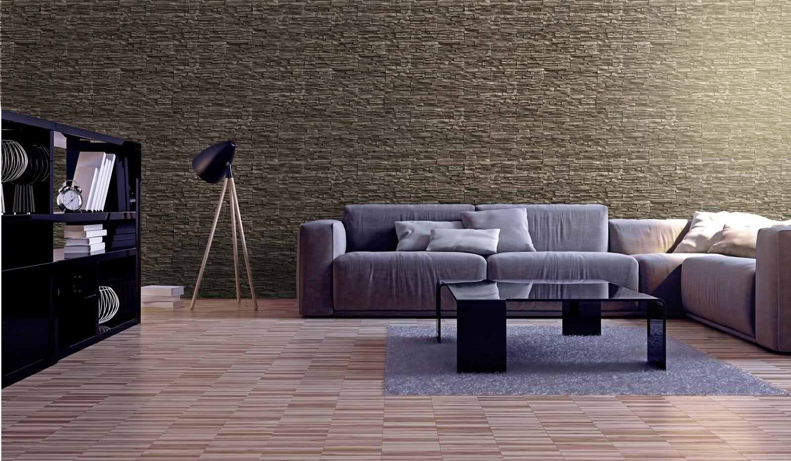 obkladyrepa - Moderní interiér s použitím imitace kamene.