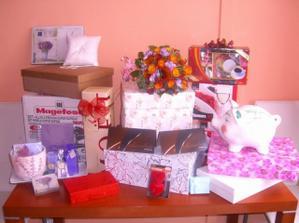 svatební dary už doma