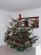 Vánoční stromek z vlastní zahrady, museli jsme kvůli němu i stěhovat, protože je trošku přerostlý :-)