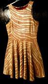 zlatavé společenské šaty 40-42, 42