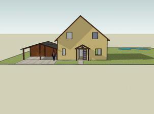Náš budoucí dům na pozemku