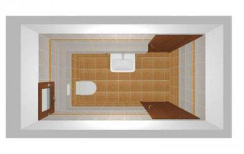 WC v přízemí (ještě bude zrcadlo nad umyvadlem)