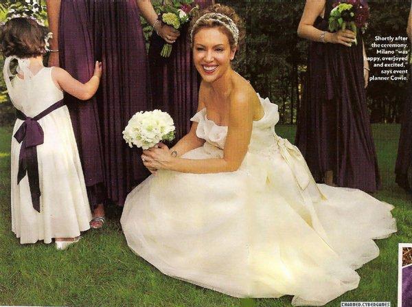 Svadba je v septembri - Alyssa Milano nádherná nevesta