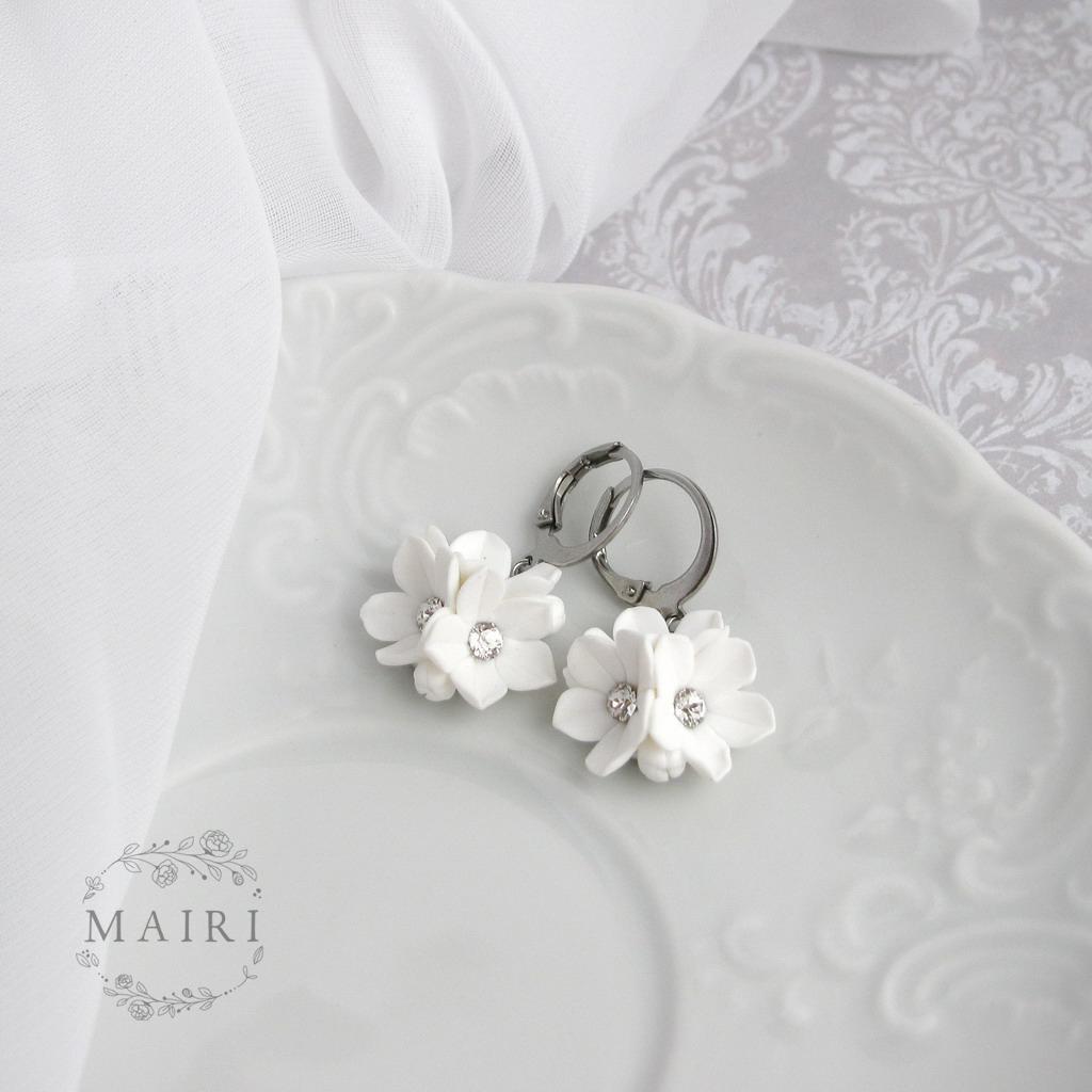 Mairi - svatební náušnice bílé - Obrázek č. 3