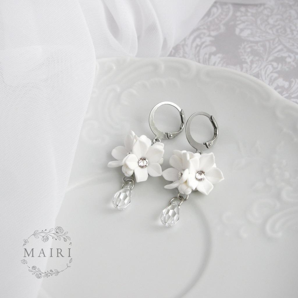 Mairi - svatební náušnice bílé se slzičkami - Obrázek č. 2