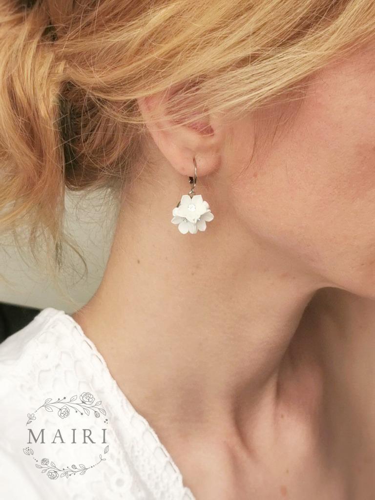 Mairi - svatební náušnice bílé se slzičkami - Obrázek č. 3
