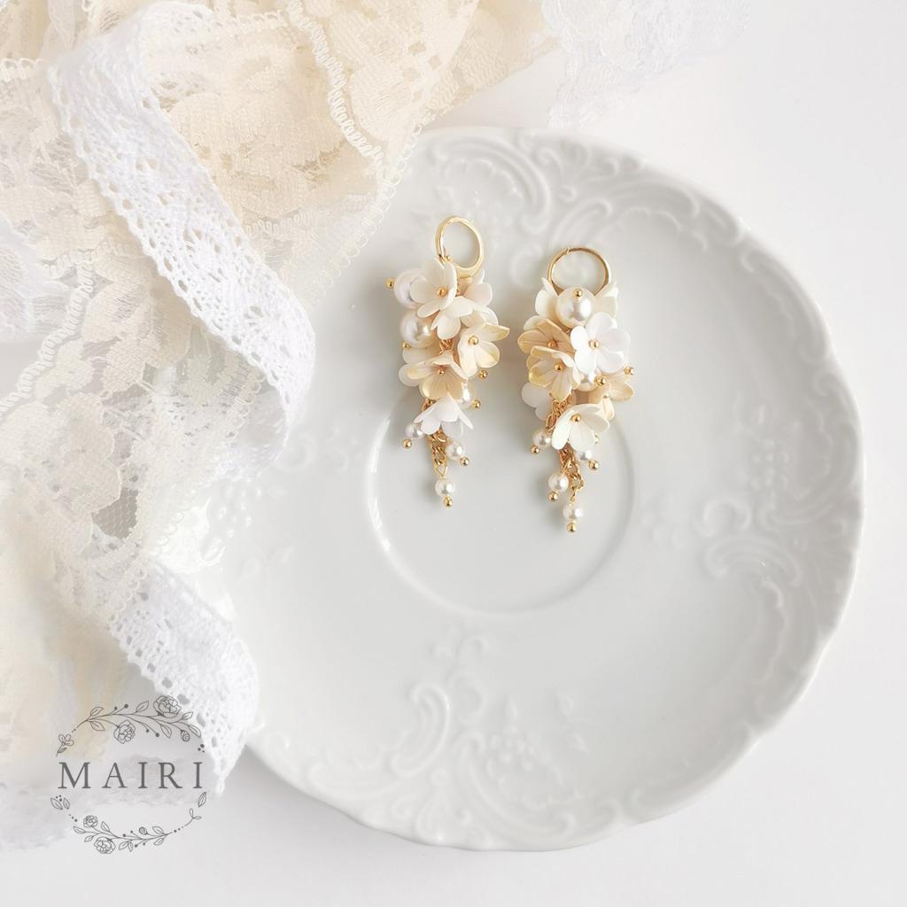 Ygraine - pozlacené svatební ivory náušnice - Obrázek č. 1