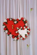 konečná verzia srdca na výzdobu - ponúkam ho na predaj :)