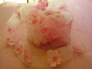 ozdobná rúžová stuha