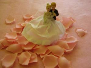 na tortu a lupene na rozhadzovanie pred kostolom