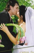prvý novomanželský polibek