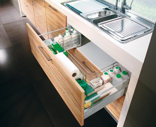 Najkrajšie kuchyne - šuflik pod dres
