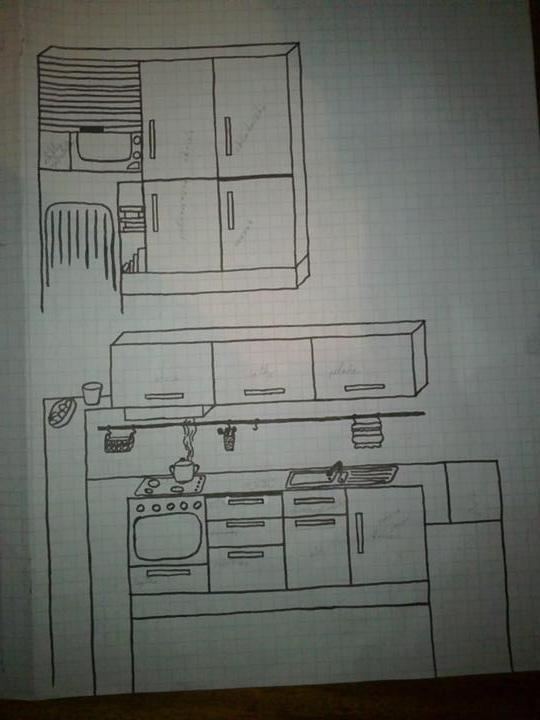 Najkrajšie kuchyne - hore je popri dverah a dole oproti ostrovčeku
