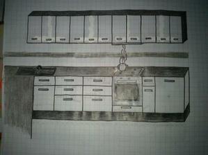 Tretia verzia so zmenou hornych skriniek za klasicke s uchytkou v strede