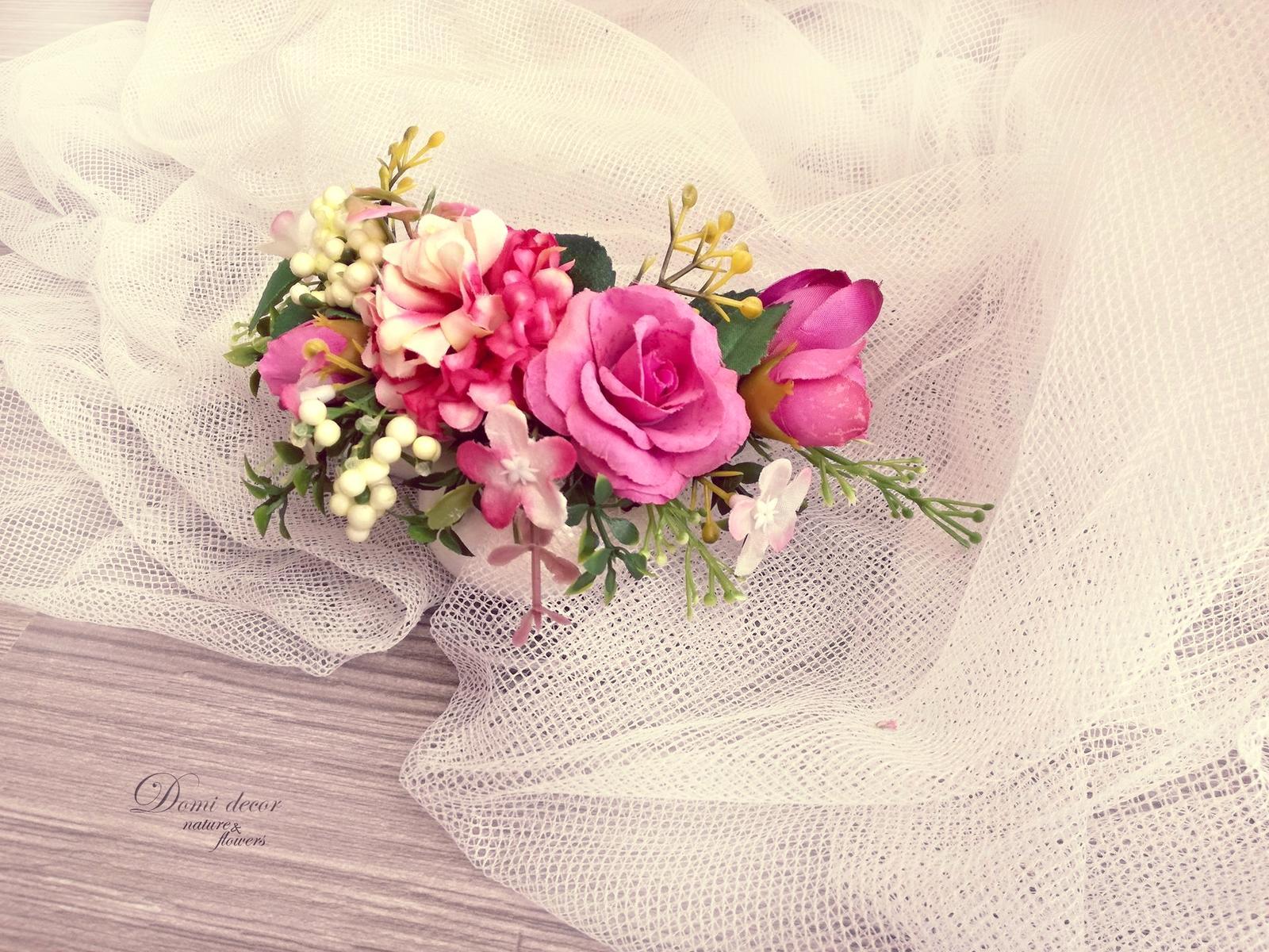 Doplnky pre nevestu, ženícha, družičky z trvácnych kvietkov... inšpirácie ♥ - Obrázok č. 30