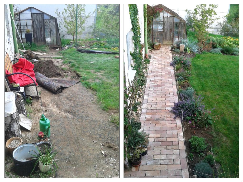 Před a po - rozdíl 4 měsíce :-)