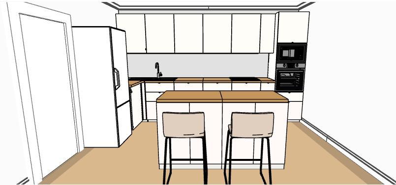 Hezké dopoledne, prosím pokud by se někomu chtělo mrknout na můj návrh kuchyně, uvítám každé připomínky a rady 🙂 pokud bych mohla poprosit i @verunky Místo pro linku je 190 cm x 400 cm. Vedle lednice je myčka. Děkuji a hezký den. - Obrázek č. 1