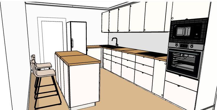 Hezké dopoledne, prosím pokud by se někomu chtělo mrknout na můj návrh kuchyně, uvítám každé připomínky a rady 🙂 pokud bych mohla poprosit i @verunky Místo pro linku je 190 cm x 400 cm. Vedle lednice je myčka. Děkuji a hezký den. - Obrázek č. 2