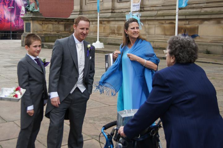 Jo Morgan{{_AND_}}Danny Massey - Dan & Matthew greeting my Nan and Auntie Pat
