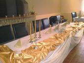 Zlato-biela svadobná výzdoba,