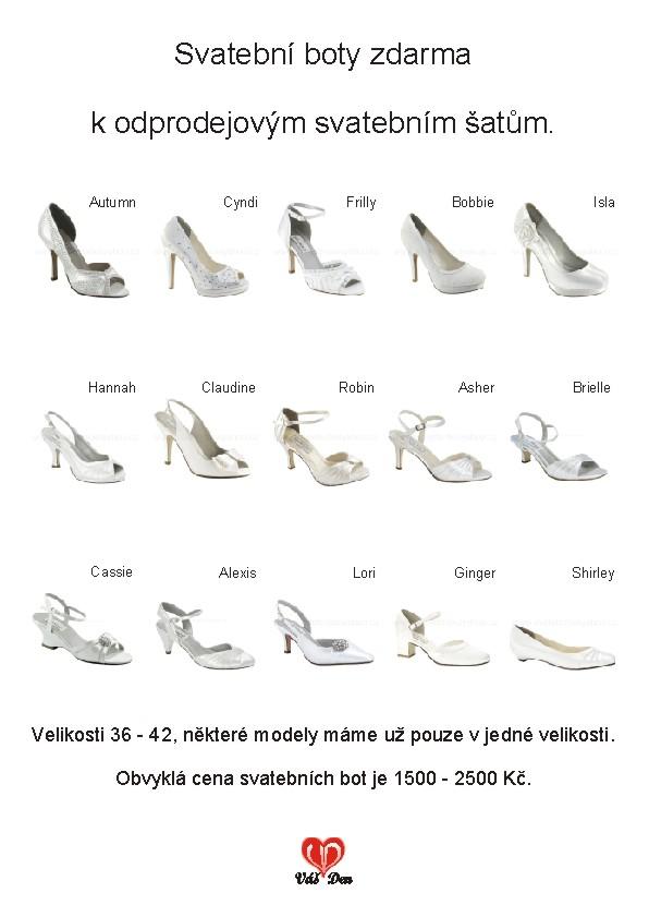 Posezonní odprodej svatebních šatů + boty ZDARMA! - BOTY ZDARMA k odprodejovým šatům...