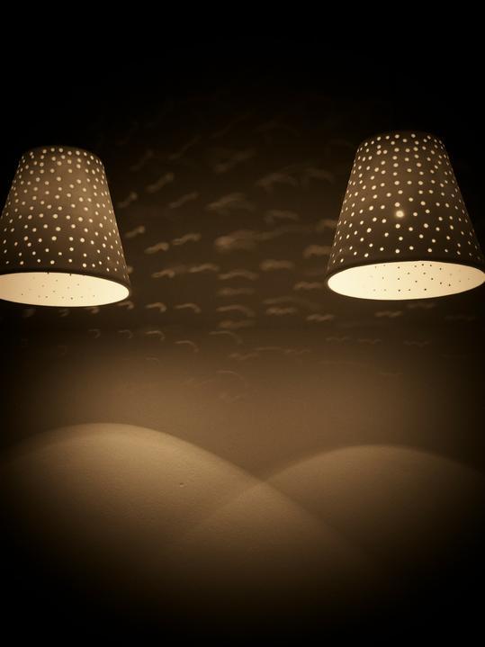 Moje večerní romantika - sádrová svítidla sleeping beauty...