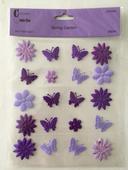 Samolepící dekorace - fialová,