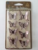 Samolepící 3D motýlci,
