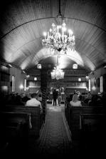 artikulárny kostol vo Sv. Kríži pojme 6000 ľudí, takže tých 50 ľudí čo tam bolo posobilo poněkud dojmem, že je prázdnej :)