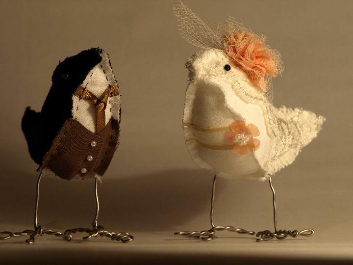 Notre mariage - A ještě jeden ptačí páreček na stůl. Nemohla jsem odolat!