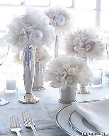 Winter Wedding ideas - White winter table decoration ideas