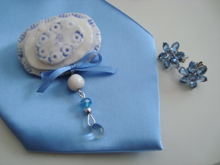 Notre mariage - Ženichova kravata a naušky, které budou na svatbě. Změna je život :-)