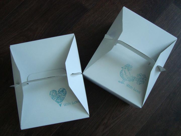 Notre mariage - Krabice jsou už potištěné