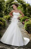 Svadobné šaty saténové ivory, 36