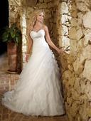 Svadobné šaty princeznovské biele, 36