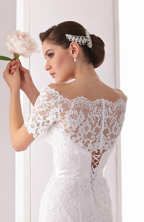 Svadobné šaty z bielej čipky s bolerkom - Obrázok č. 4