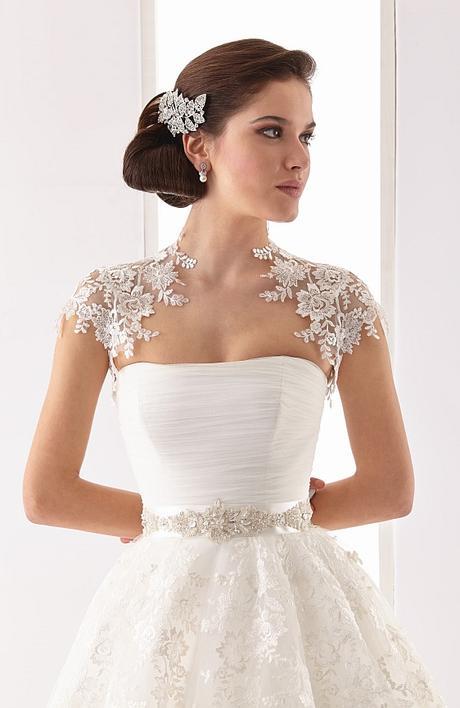 Svadobné šaty čipkované s bolerkom  - Obrázok č. 1