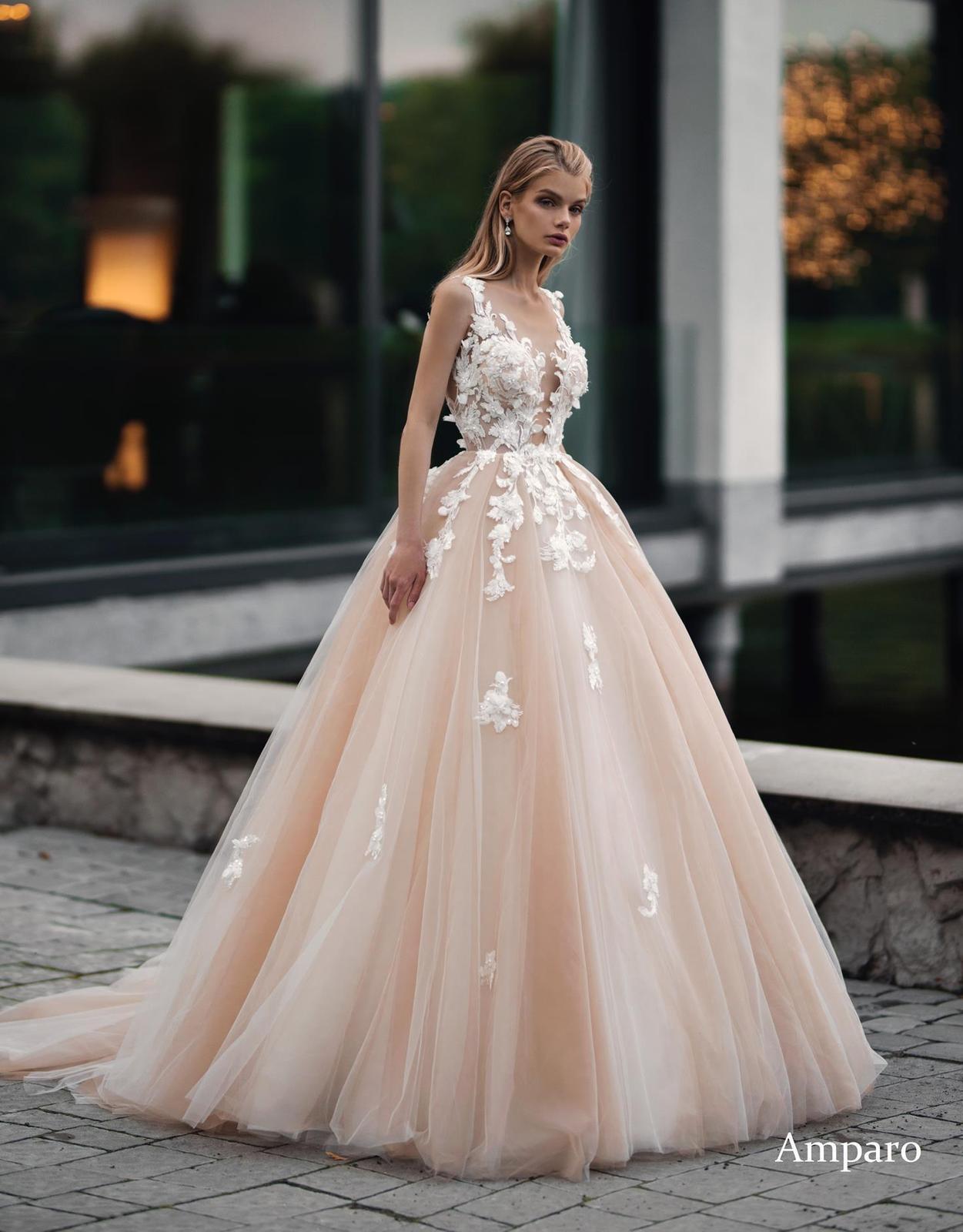 Svadobné šaty ivory/nude VÝPREDAJ 199€ - Obrázok č. 1