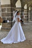 bílé saténové svatební šaty Mia Solano 42-46, 42
