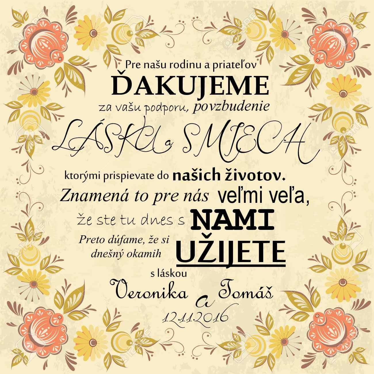 ♥ A je to tu..♥ už sa nám to kráti ♥ začali sa prípravy/ vybavovanie ♥ - Môj návrh na poďakovanie svadobčanom :-) vytlačiť a pekne dať každému na stôl :-)