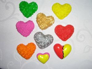 Moja vlastná výroba - magnetky na pamiatku pre hostí. :-)