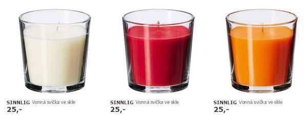 svíčky má  smetanové a oranžové 10ks na sladký bar