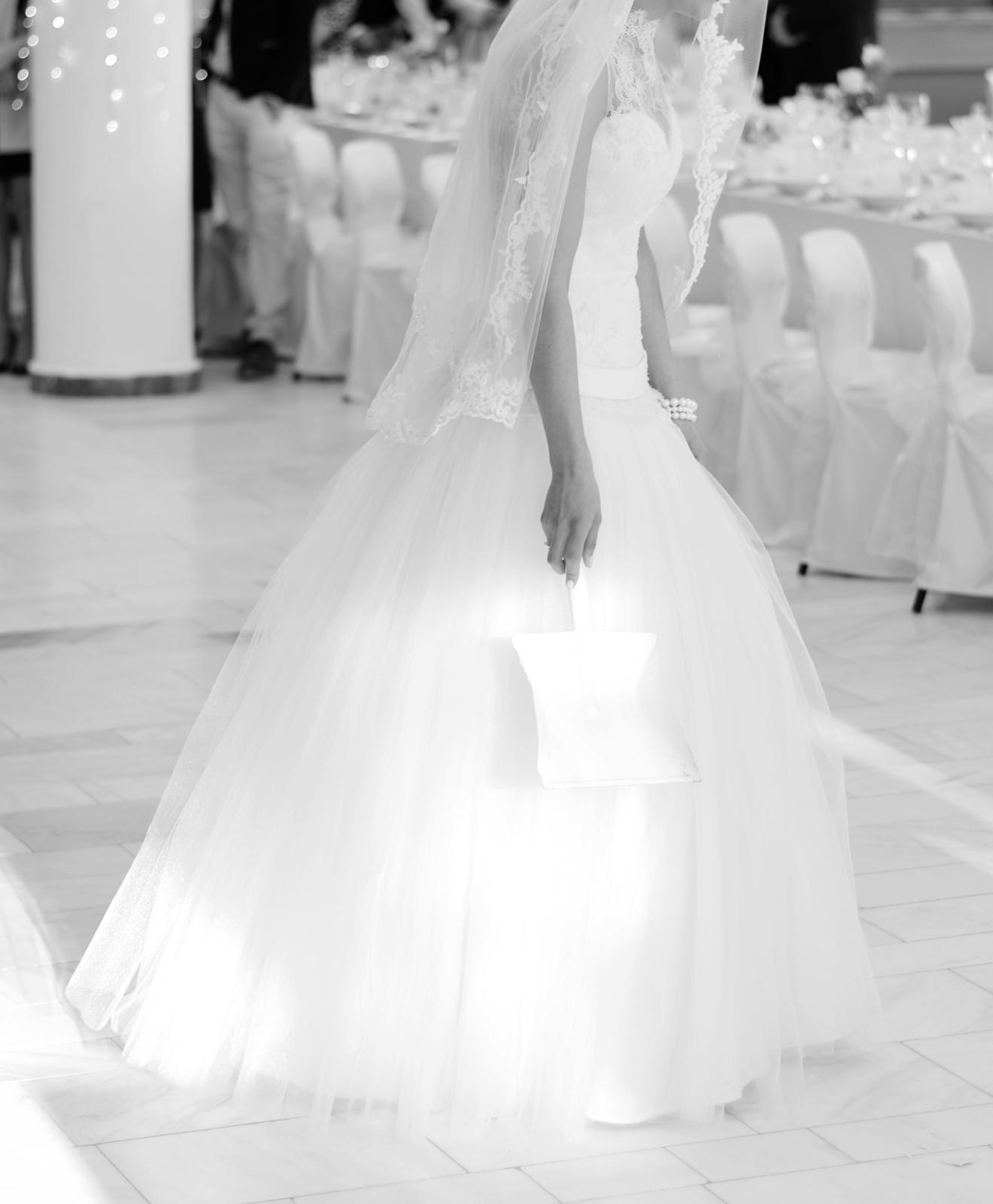 Svadobné šaty čipka a tyl (34-36) - Obrázok č. 3