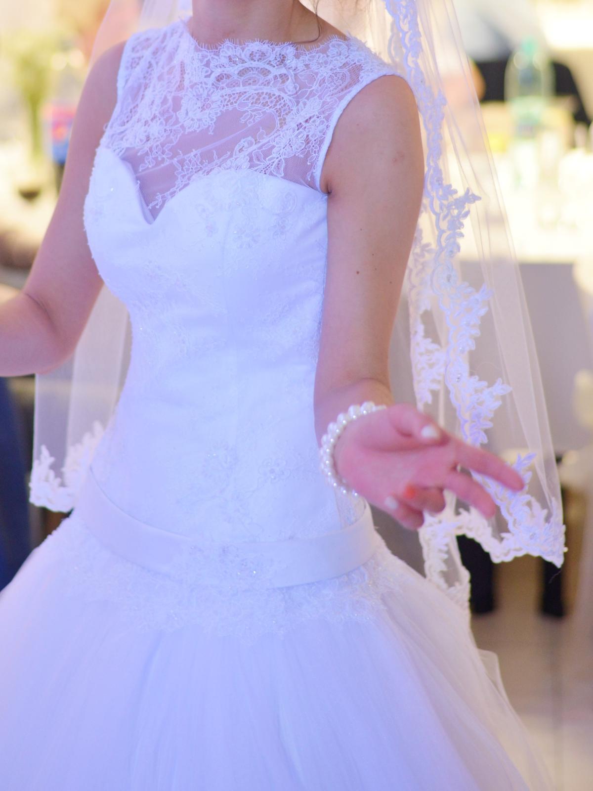 Svadobné šaty čipka a tyl (34-36) - Obrázok č. 4