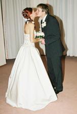 takúto svadobnú fotku som vždy chcela :-)