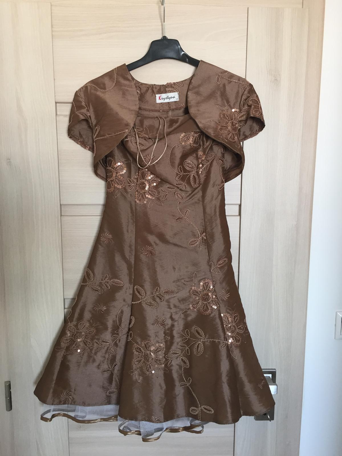 Spoločenské šaty s bolerkom, veľ. 36 - Obrázok č. 1