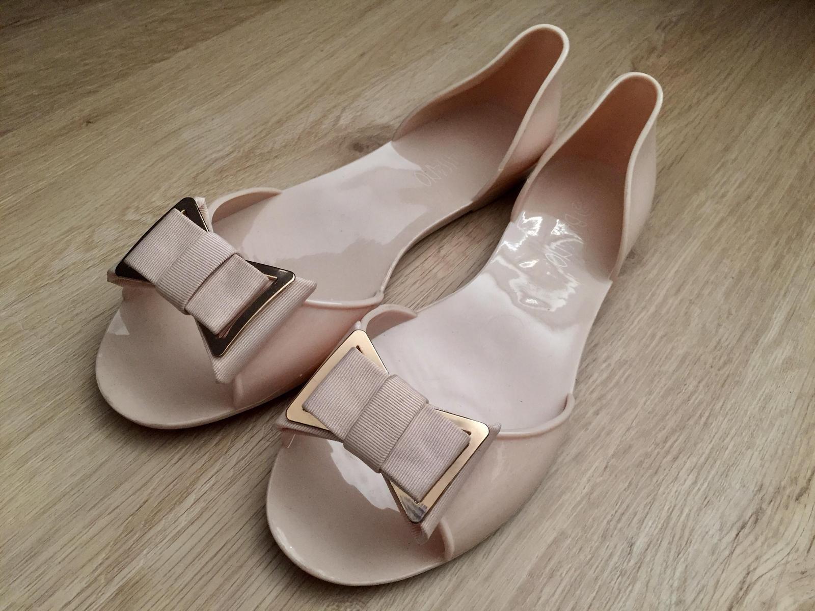 Sandále s otvorenou špičkou, 1x obuté - Obrázok č. 1