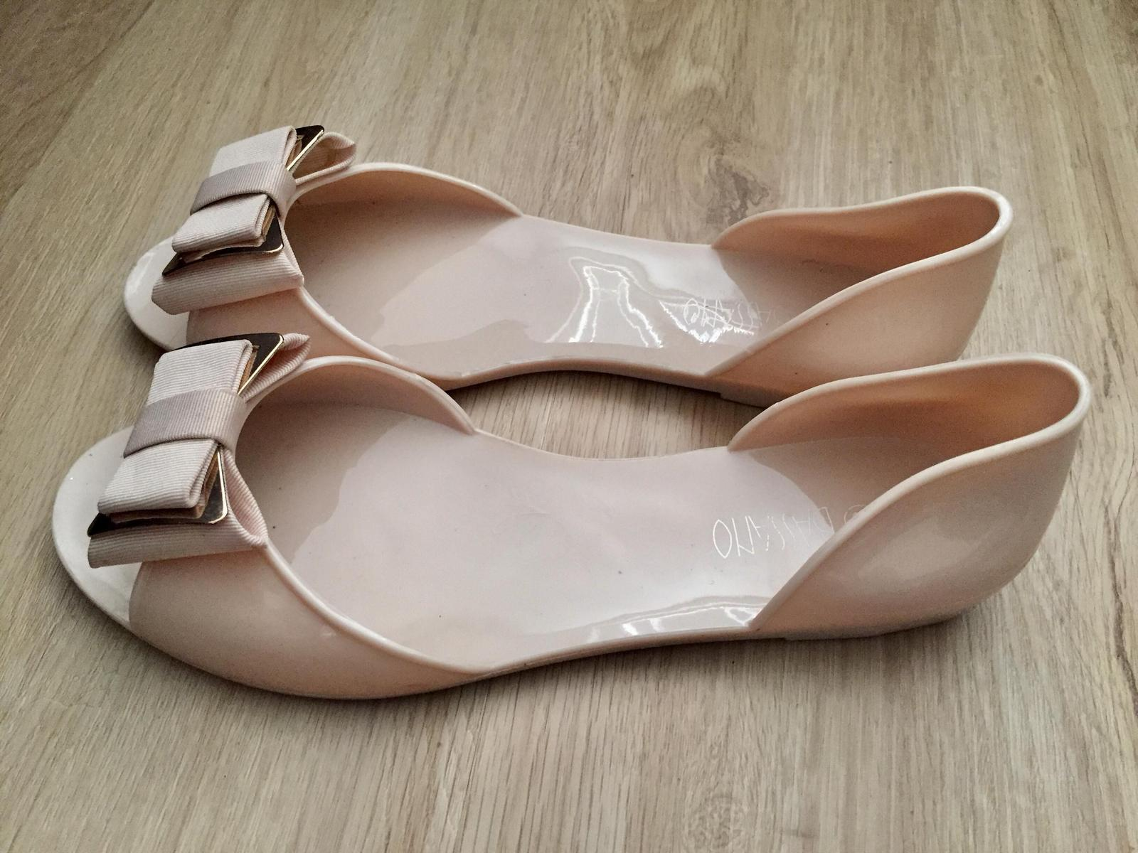 Sandále s otvorenou špičkou, 1x obuté - Obrázok č. 2