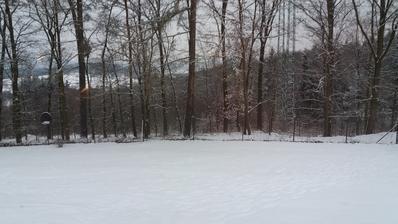 A sněží....