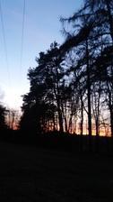 Dnes byl krásný západ slunce u nás..☺